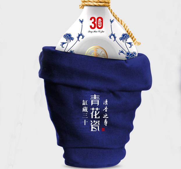 青花瓷-白酒包装设计